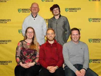 Vs Millwall January 1st (Left To Right Laura Dagless Kevin Crispe Alex Pritchard Elliot Crispe Kevin Dagless)