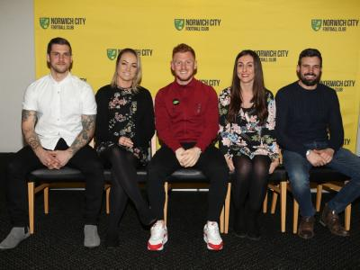 Vs Reading 17th March (Left To Right Nicholas Hayward Danni Scott Harrison Reed Kayleigh Goodrum Aarron Kneller)