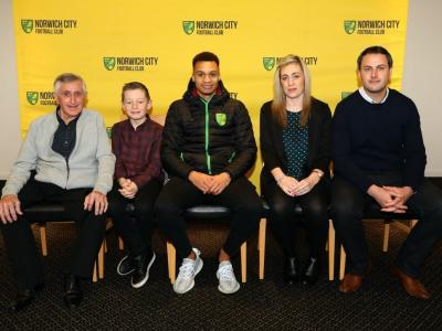 Vs Sheffield United 20th January (Left To Right Dave Gray Joshua Gray Jacob Murphy Karly Gray Steve Gray)