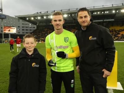 Vs Sheffield United 20th January (Left To Right Joshua Gray James Maddison Steve Gray)